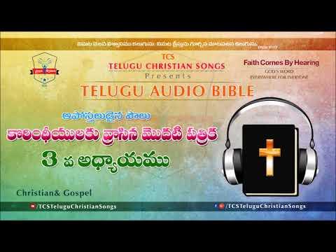 1 Corinthians Chapter 3 (I కొరింథీయులకు)  || Telugu Audio Bible ||