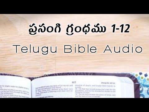 Ecclesiastes (ప్రసంగి)  | prasangi telugu bible audio | prasangi audio bible in telugu 1-12