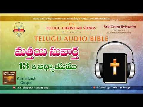 Gospel Of Matthew (మత్తయి సువార్త) Chapter 13 || Telugu Audio Bible ||