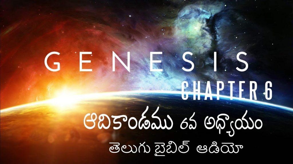 ఆదికాండము 6వ అధ్యాయం / Genesis Chapter 6 in Telugu / Telugu Audio Bible/ holy bible audio in telugu
