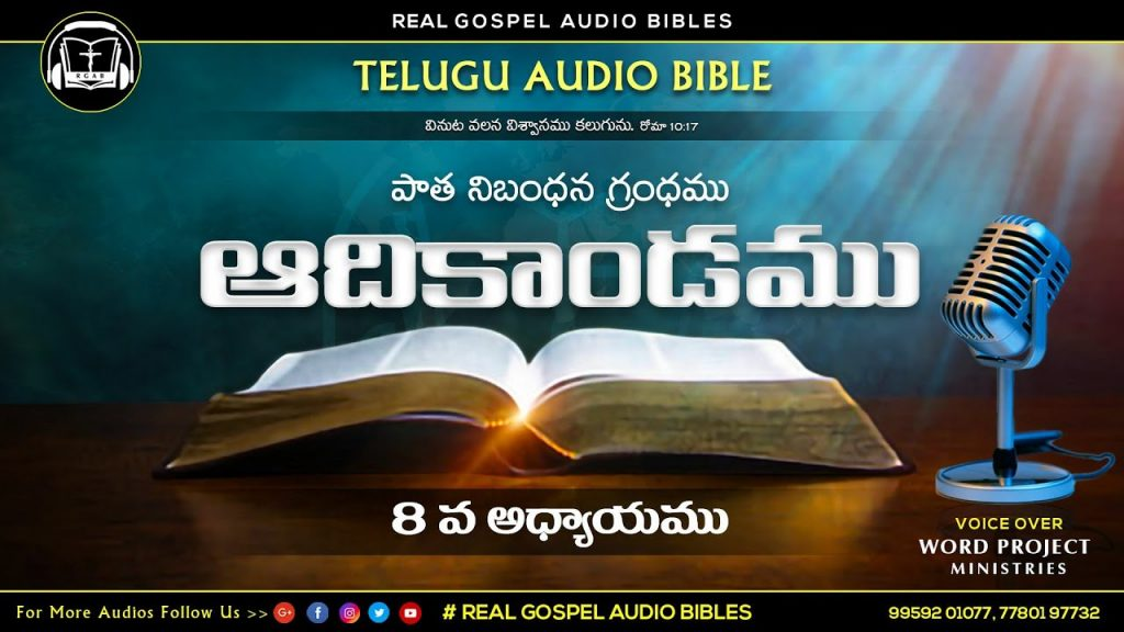 || ఆదికాండము 8వ అధ్యాయము || పాతనిబంధన గ్రంధము || TELUGU AUDIO BIBLE || REAL GOSPEL AUDIO BIBLES ||