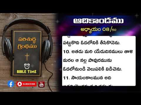 ఆదికాండము || 8వ అధ్యాయము || Telugu Audio Bible || Genesis || Chapter 8 || Bible Time