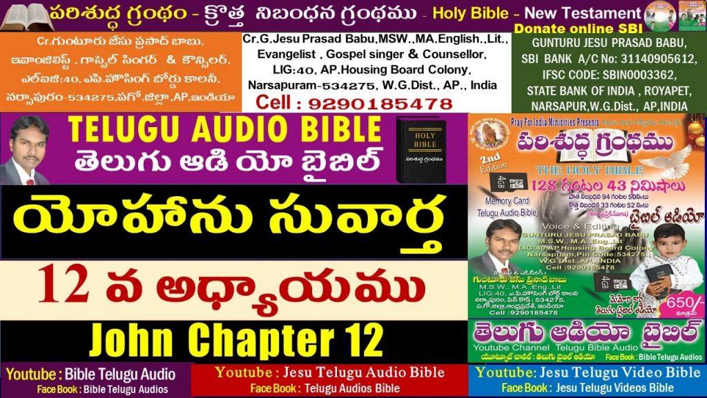 యోహాను సువార్త 12వ అధ్యాయం,John 12,Bible,New Testament,Telugu Audio Bible,Jesu Telugu Audio Bible