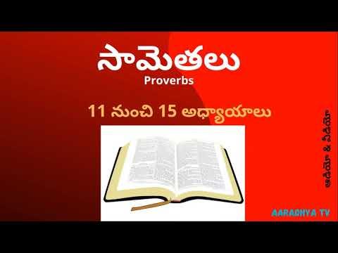 సామెతలు PROVERBS(11-15) TELUGU AUDIO BIBLE 2020    AARADHYA TV