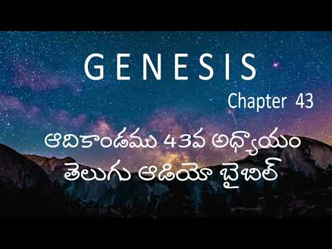 Adikandamu 43Va Adhyayam / Genesis Chapter 43 / Telugu Audio Bible / holy bible audio in telugu