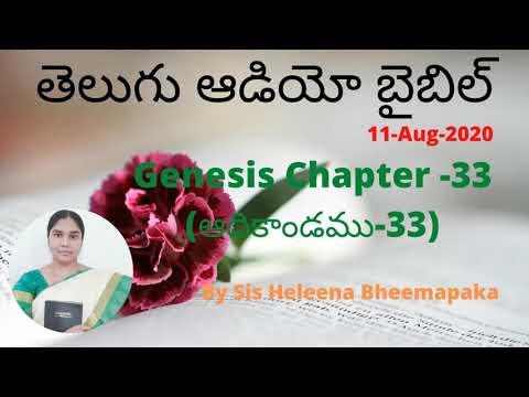 Genesis Chapter 33(ఆదికాండము-33)||Telugu Audio Bible||
