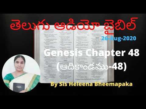 Genesis Chapter 48(ఆదికాండము - 48)||Telugu Audio Bible||