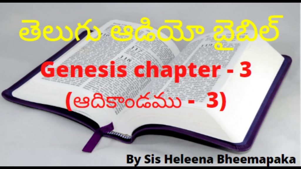 Genesis chapter 3(ఆదికాండము - 3)||Telugu Audio Bible||