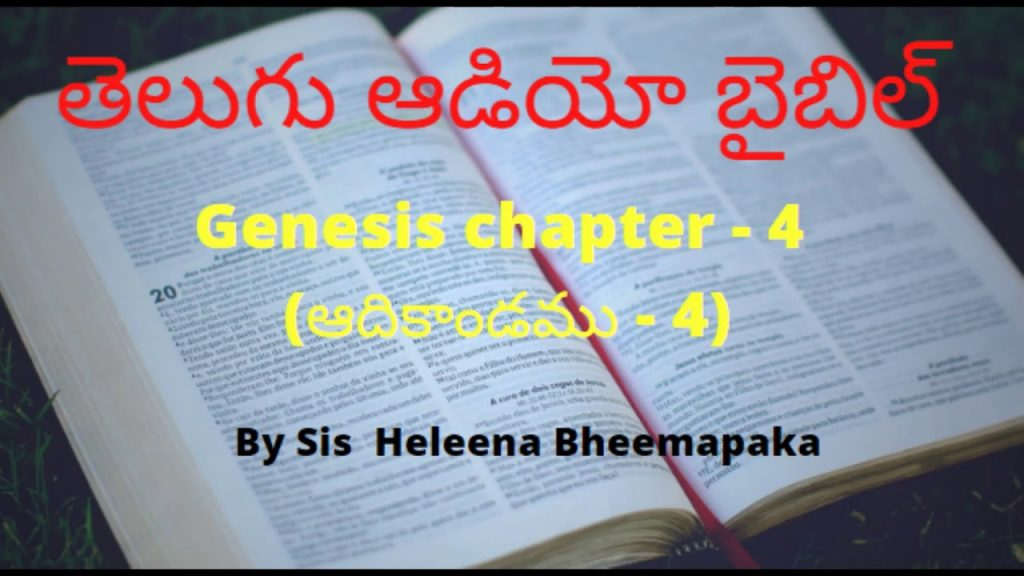 Genesis chapter 4(ఆదికాండము - 4)||Telugu Audio Bible||