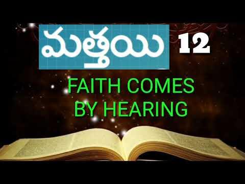 Matthew chapter 12 telugu audio bible