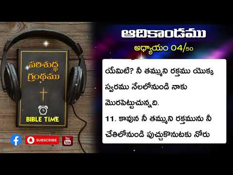 ఆదికాండము || 4వ అద్యాయము || తెలుగు ఆడియో బైబిల్ || Telugu Audio Bible || Genesis || Chapter 4 ||