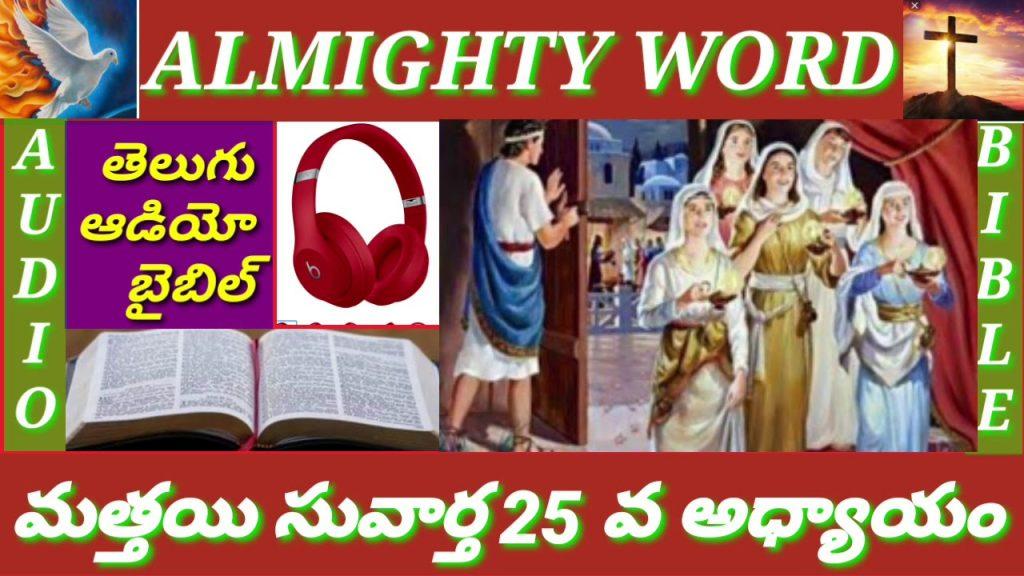 మత్తయి సువార్త 25 వ అధ్యాయం (తెలుగుఆడియో బైబిల్)MATTHEW CHAPTER 25