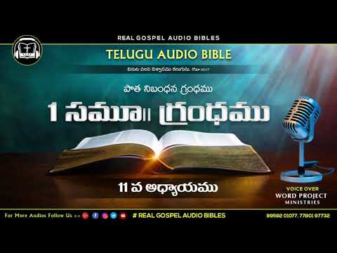 మొదటి సమూయేలు 11వ అధ్యాయము    పాతనిబంధన గ్రంధము    TELUGU AUDIO BIBLE    REAL GOSPEL AUDIO BIBLES   
