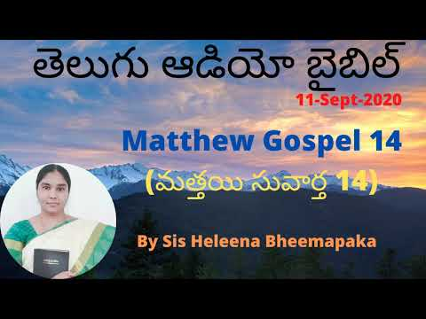 Matthew Gospel 14(మత్తయి సువార్త 14)||Telugu Audio Bible||