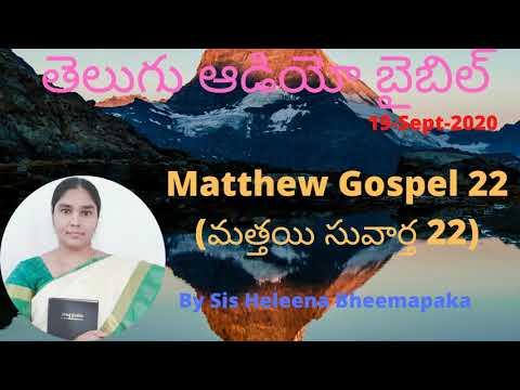 Matthew Gospel 22(మత్తయి సువార్త 22)||Telugu Audio Bible||
