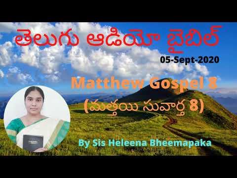 Matthew Gospel 8(మత్తయి సువార్త 8)  Telugu Audio Bible  