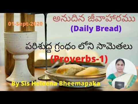 Proverbs Chapter 1(సామెతలు-1)||Telugu Audio Bible||