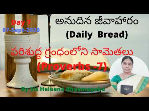 Proverbs Chapter 7(సామెతలు-7)   Telugu Audio Bible  