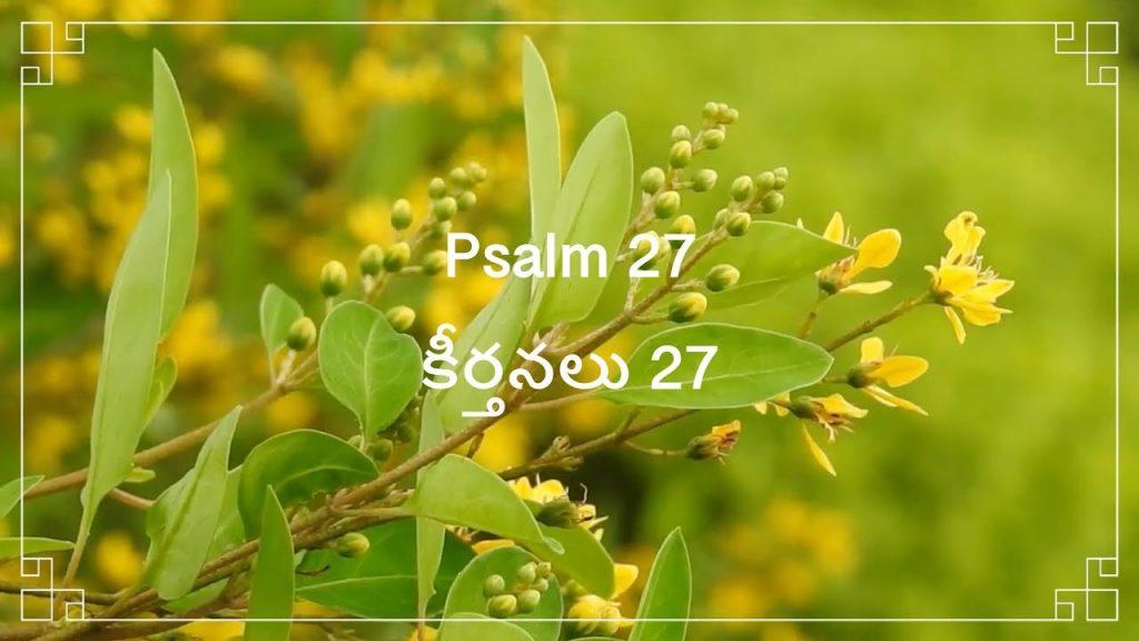 Telugu Bible |  Audio | Psalm 27 | పరిశుద్ధ గ్రంథము | కీర్తనలు 27 |Voice: Sravanthi Samson
